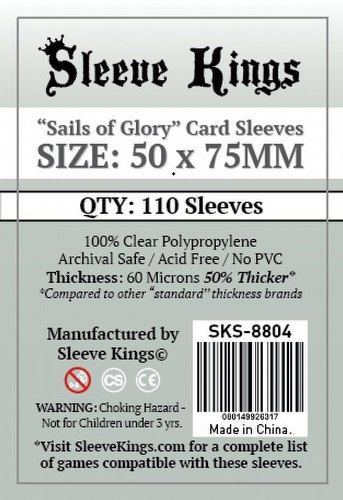 Sleeve Kings Sails of Glory Board Game Sleeves Pack [50mm x 75mm]