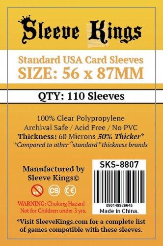 Sleeve Kings Standard USA American Board Game Sleeves Pack [56mm x 87mm/10 packs]