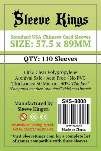 Sleeve Kings Standard USA American Chimera Board Game Sleeves Pack [57.5mm x 89mm]