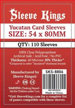 Sleeve Kings Yucatan Board Game Sleeves Pack [54mm x 80mm]