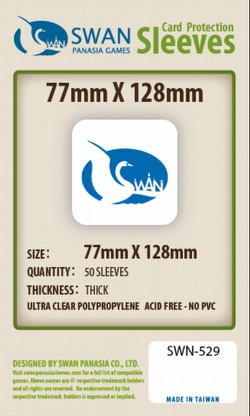Swan Panasia 77mm x 128mm Premium Board Game Sleeves Pack