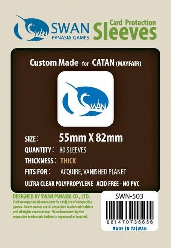 Swan Panasia Catan Premium Board Game Sleeves Pack [55mm x 82mm]