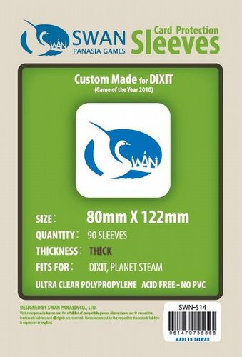 Swan Panasia Dixit Premium Game Sleeves [10 Packs/80mm x 122mm]