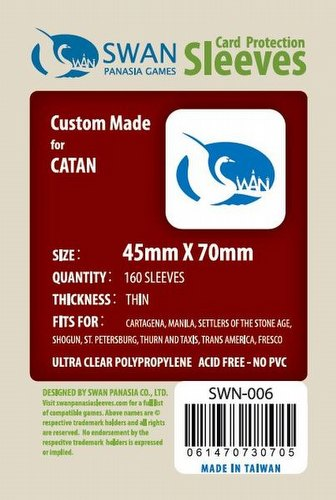 Swan Panasia Mini European Board Game Sleeves Pack [45mm x 70mm]