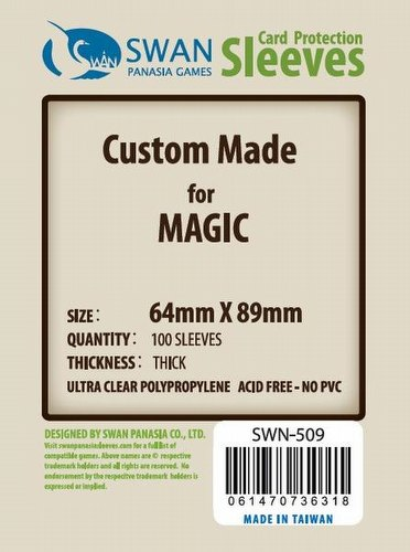 Swan Panasia Standard Magic Premium Board Game Sleeves Pack [64mm x 89mm]
