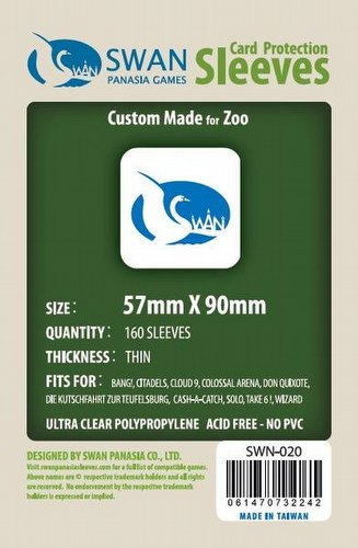 Swan Panasia Standard USA/American Board Game Sleeves Pack [57mm x 90mm]