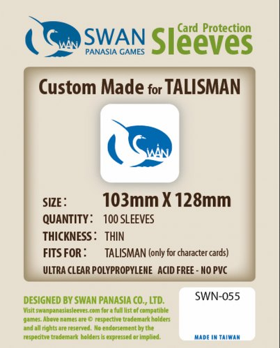 Swan Panasia Talisman Character Cards Board Game Sleeves Pack [103mm x 128mm]