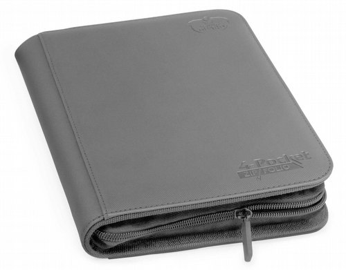Ultimate Guard XenoSkin Grey 4-Pocket ZipFolio