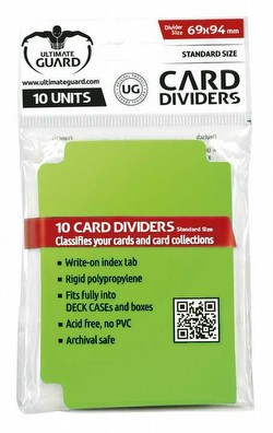 Ultimate Guard Light Green Card Dividers [10 Packs]