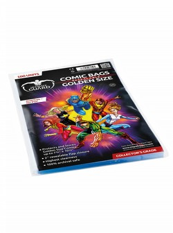 Ultimate Guard Golden Size Resealable Comic Bags Pack