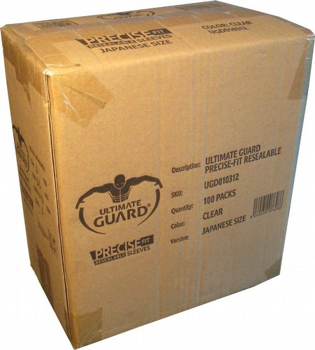 Ultimate Guard Japanese Size Precise-Fit Resealable Sleeves Case [100 packs]