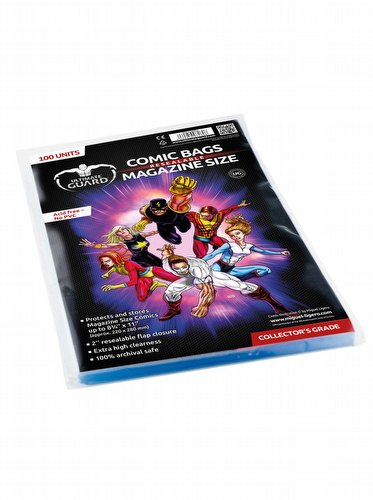 Ultimate Guard Magazine Size Resealable Comic Bags Pack