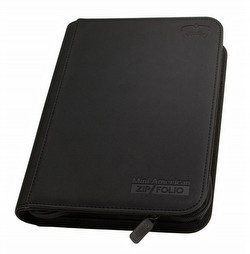 Ultimate Guard XenoSkin Black Mini American 9-Pocket ZipFolio