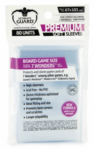 Ultimate Guard Premium 7 Wonders Board Game Sleeves Pack