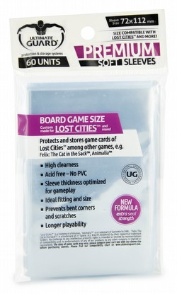 Ultimate Guard Premium Lost Cities Board Game Sleeves Pack