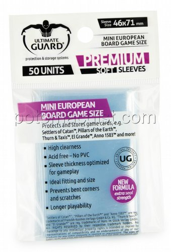 Ultimate Guard Premium Mini European Board Game Sleeves Pack