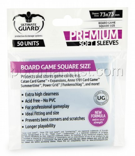 Ultimate Guard Premium Square Board Game Sleeves Pack