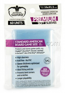 Ultimate Guard Premium Standard American Board Game Sleeves Pack