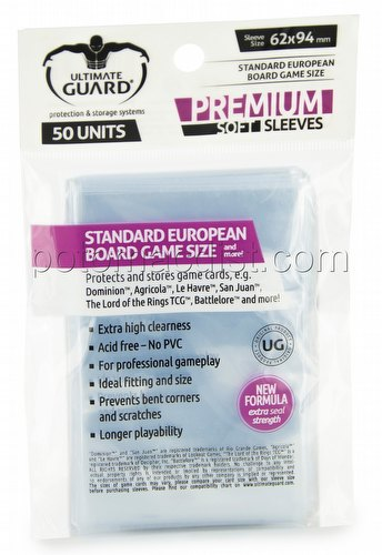 Ultimate Guard Premium Standard European Board Game Sleeves Pack