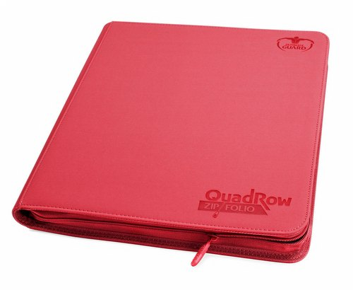 Ultimate Guard XenoSkin Red QuadRow ZipFolio