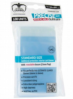 Ultimate Guard Standard Size Precise-Fit Resealable Sleeves Case [100 packs]