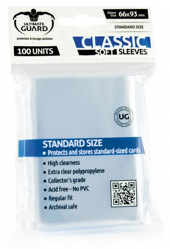 Ultimate Guard Standard Size Classic Soft Sleeves Case [100 packs]