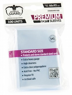 Ultimate Guard Standard Size Premium Soft Sleeves Case [100 packs]