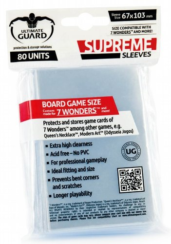 Ultimate Guard Supreme 7 Wonders Board Game Sleeves Pack
