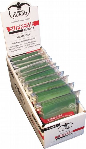 Ultimate Guard Supreme Yu-Gi-Oh/Japanese Size Green Sleeves Box [10 packs]