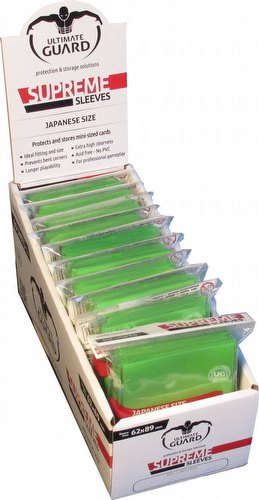 Ultimate Guard Supreme Yu-Gi-Oh/Japanese Size Light Green Sleeves Box [10 packs]