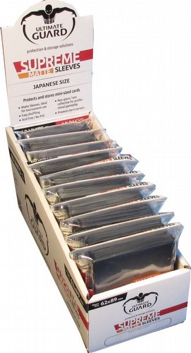 Ultimate Guard Supreme Yu-Gi-Oh/Japanese Size Matte Black Sleeves Box [10 packs]