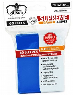 Ultimate Guard Supreme Yu-Gi-Oh/Japanese Size Matte Blue Sleeves Pack