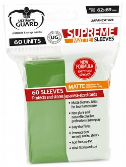 Ultimate Guard Supreme Yu-Gi-Oh/Japanese Size Matte Green Sleeves Pack
