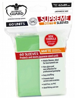 Ultimate Guard Supreme Yu-Gi-Oh/Japanese Size Matte Light Green Sleeves Pack