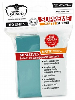 Ultimate Guard Supreme Yu-Gi-Oh/Japanese Size Matte Petrol Blue Sleeves Pack