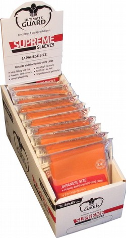 Ultimate Guard Supreme Yu-Gi-Oh/Japanese Size Orange Sleeves Box [10 packs]