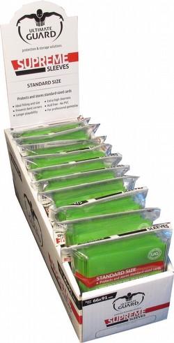 Ultimate Guard Supreme Standard Size Light Green Sleeves Box [10 packs]