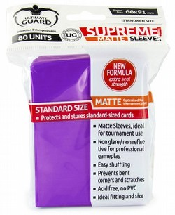 Ultimate Guard Supreme Standard Size Matte Purple Sleeves Pack