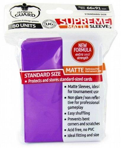 Ultimate Guard Supreme Standard Size Matte Purple Sleeves Box [10 packs]