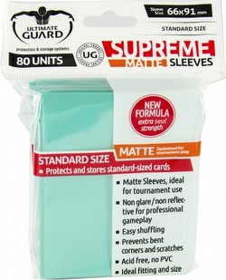 Ultimate Guard Supreme Standard Size Matte Turquoise Sleeves Pack