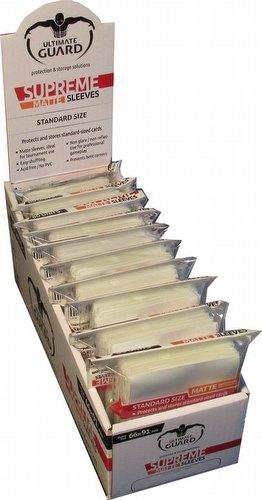 Ultimate Guard Supreme Standard Size Matte White Sleeves Box [10 packs]