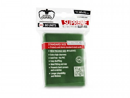 Ultimate Guard Supreme Standard Size Metallic Green Sleeves Pack