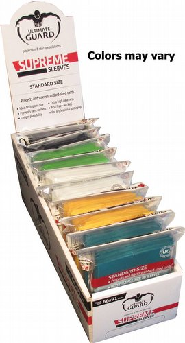 Ultimate Guard Supreme Standard Size Mixed Colors Sleeves Box [10 packs]