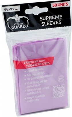 Ultimate Guard Supreme Standard Size Pink Sleeves Box [12 packs/50 sleeves per pack]