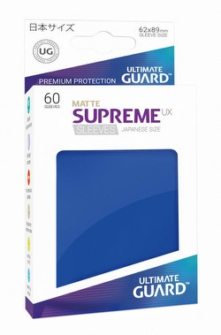 Ultimate Guard Supreme UX Japanese/Yu-Gi-Oh Size Matte Blue Sleeves Pack