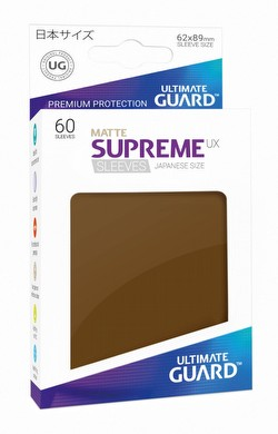 Ultimate Guard Supreme UX Japanese/Yu-Gi-Oh Size Matte Brown Sleeves Pack