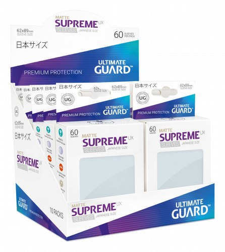 Ultimate Guard Supreme UX Japanese/Yu-Gi-Oh Size Matte Frosted Sleeves Box [10 packs]