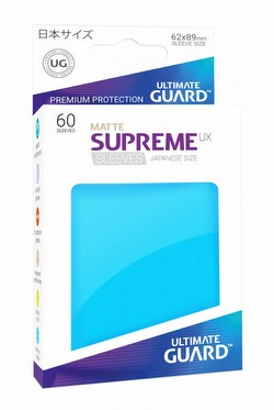 Ultimate Guard Supreme UX Japanese/Yu-Gi-Oh Size Matte Light Blue Sleeves Pack
