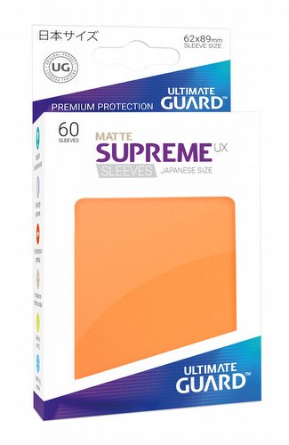Ultimate Guard Supreme UX Japanese/Yu-Gi-Oh Size Matte Orange Sleeves Pack