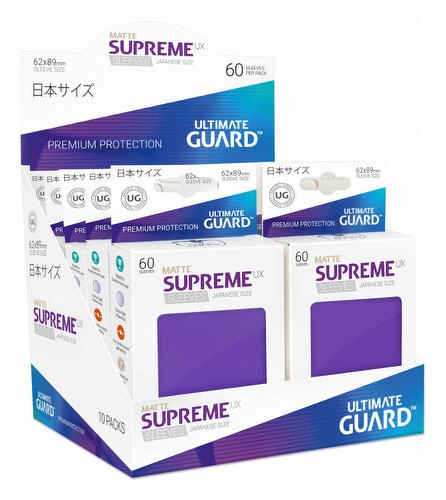Ultimate Guard Supreme UX Japanese/Yu-Gi-Oh Size Matte Purple Sleeves Box [10 packs]